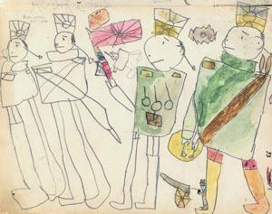 Рисунок Гаррика Арнштама на 79-й странице альманаха <Чукоккала>
