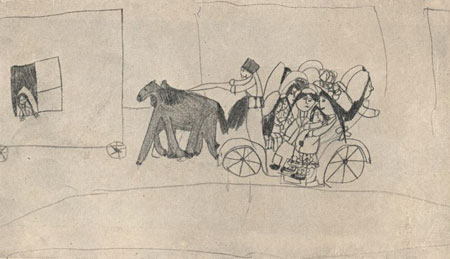 Рисунок Олички Мет-ной (6-7 лет) Едут на вокзал