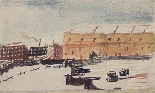 Рисунок Жени Л-ре На реке Невке