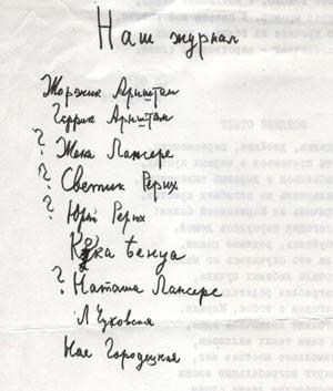Попытка Лидии Корнеевны разгадать имена авторов <Нашего Журнала>