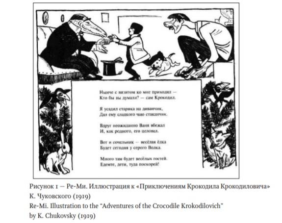 Ре-Ми. Иллюстрация к Приключениям Крокодила Крокодиловича